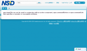 Salesforce_inputFileエラー画面